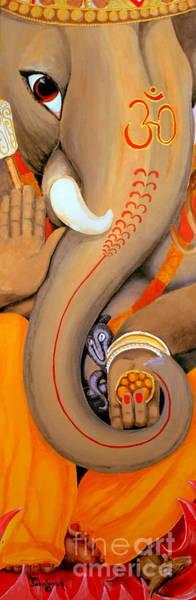 Ganesh Painting - Ganesh by Ann Sokolovich