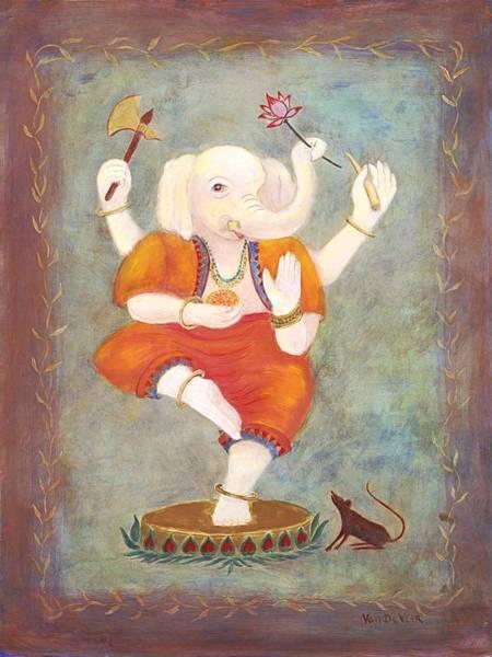 Ganesh Painting - Ganesh by Wicki Van De Veer