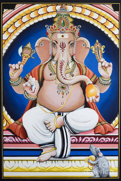 Indian God Painting - Ganesha Painting by Tim Gainey