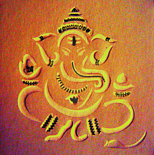 Indian God Painting - Ganesha Pietyz by Piety Dsilva