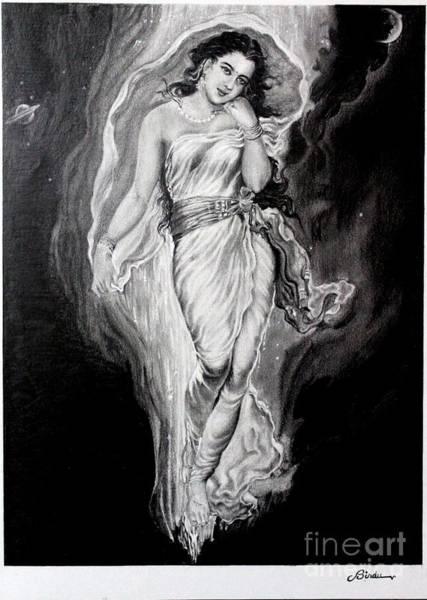 Hindu Goddess Drawing - Gangadevi  by Bindu Vulli