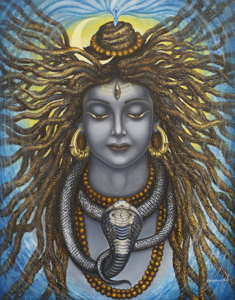 Wall Art - Painting - Gangadhara Shiva by Vrindavan Das