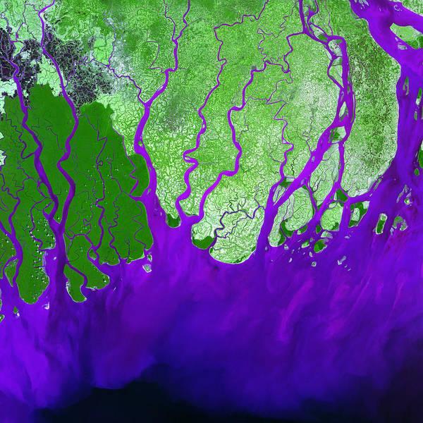 Photograph - Ganges River Delta by USGS Landsat