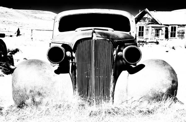 Bodie California Wall Art - Photograph - Gangster Car by Cat Connor