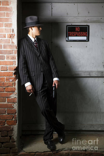Wall Art - Photograph - Gangster In The Shadows by Diane Diederich