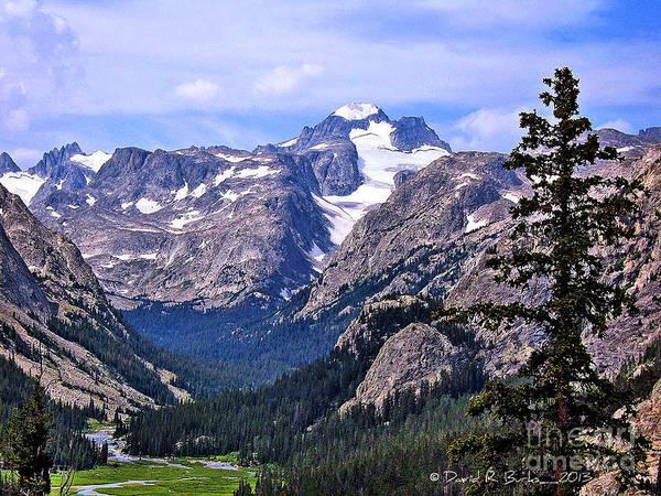 Wind River Range Wall Art - Photograph - Gannett Peak by David Burks