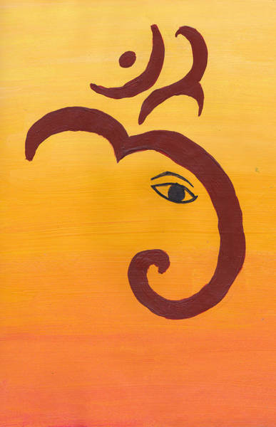 Enchantment Painting - Ganpati- Om by Melissa Vijay Bharwani