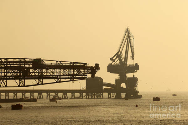 Photograph - Gantry Crane In Port by James Brunker