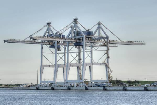 Photograph - Gantry Cranes At Port Canaveral by Bradford Martin
