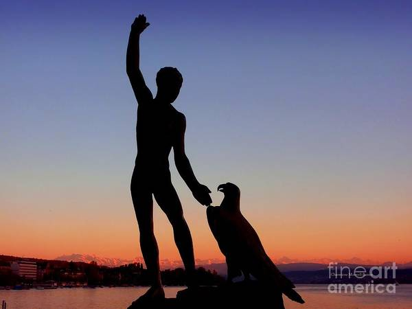Zuerich Wall Art - Photograph - Ganymede At Sunset by Charmiene Maxwell-Batten