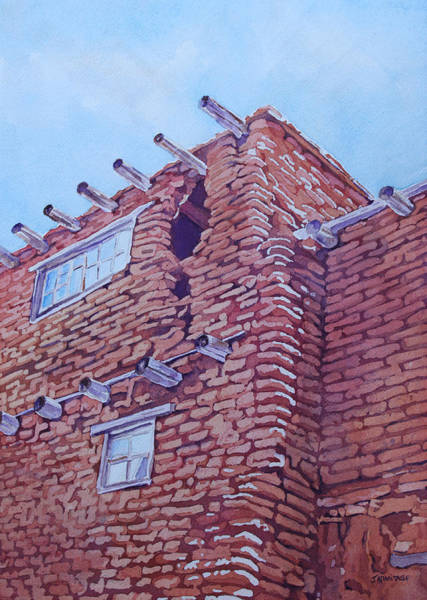 Pueblo Painting - Gap In The Wall by Jenny Armitage