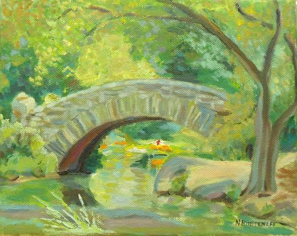 Painting - Gapstow Bridge Ny by Nicolas Bouteneff