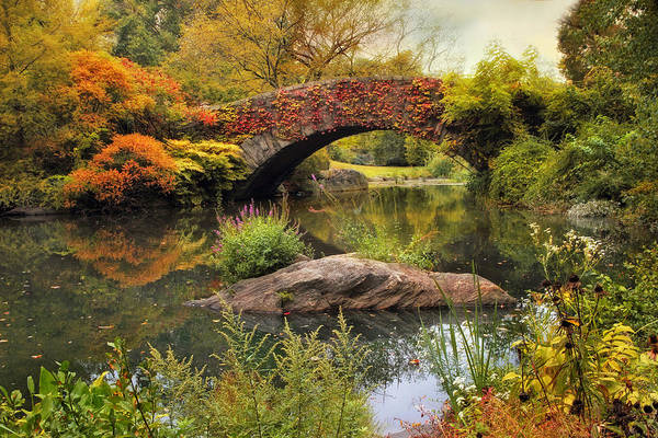 Photograph - Gapstow Bridge Serenity by Jessica Jenney