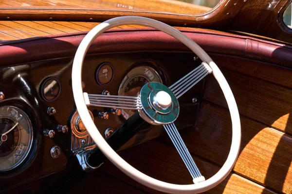 Outboard Engine Photograph - Gar Wood Wheel by Steven Lapkin