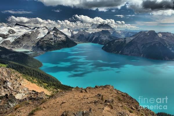 Photograph - Garabaldi Mountain Lake Landscape by Adam Jewell