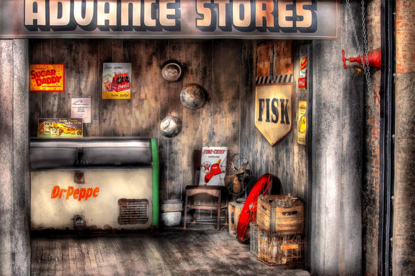 Digital Art - Garage - Advance Stores  by Mike Savad