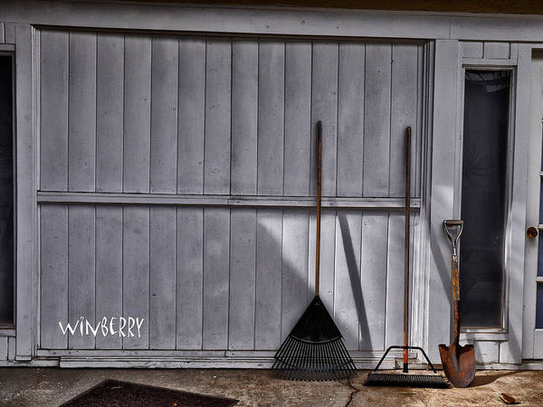Digital Art - Garage Door by Bob Winberry