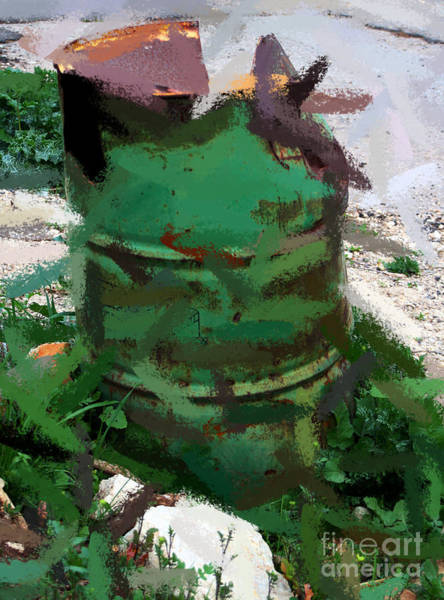 Photograph - Garbage Bin by Doc Braham