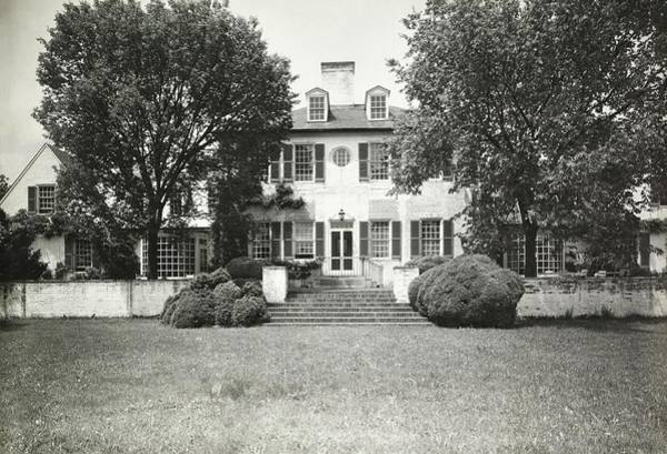 Front Yard Photograph - Garden And Exterior Of The Greenhalghs Home by Tom Leonard