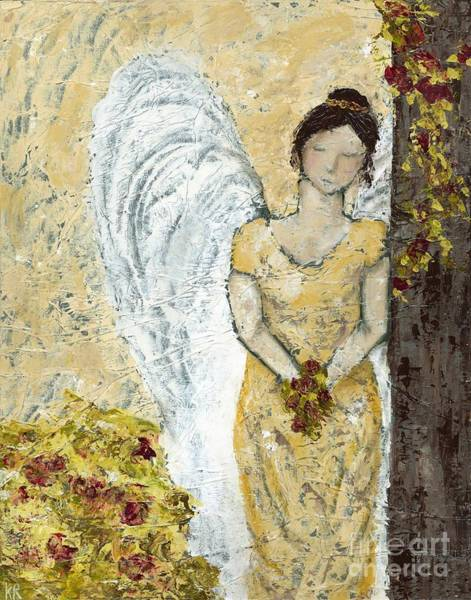 Wall Art - Painting - Garden Angel by Kirsten Reed
