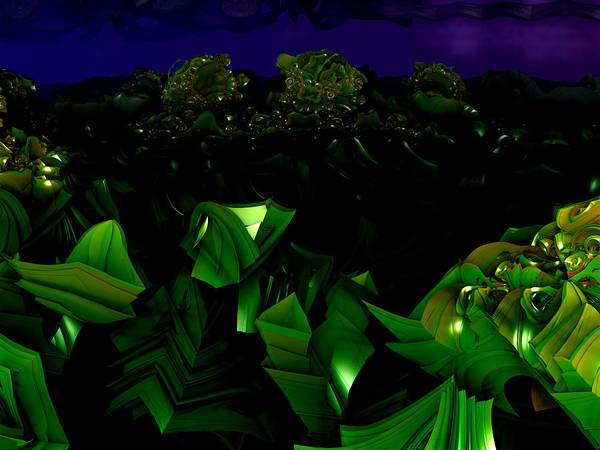 Digital Art - Garden At Midnight by Jeff Iverson