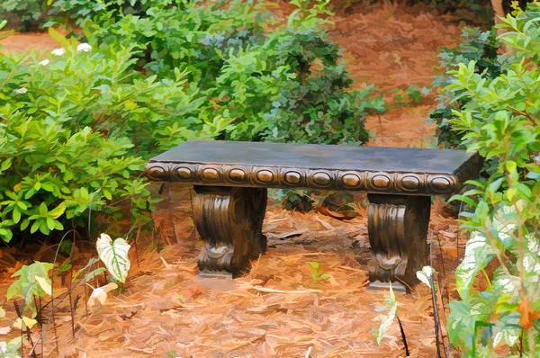 Photograph - Garden Bench by Ginger Wakem