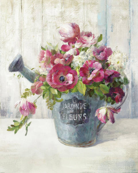 Watering Can Painting - Garden Blooms II by Danhui Nai