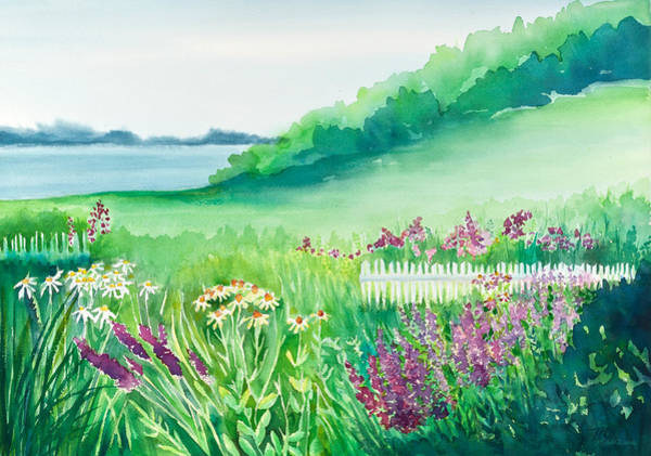 White Picket Fence Painting - Garden By The Sea by Michelle Constantine