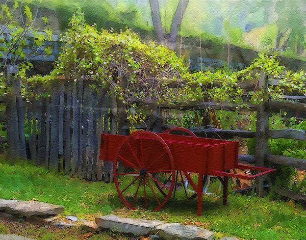 Wall Art - Photograph - Garden Cart by Dave Sandt