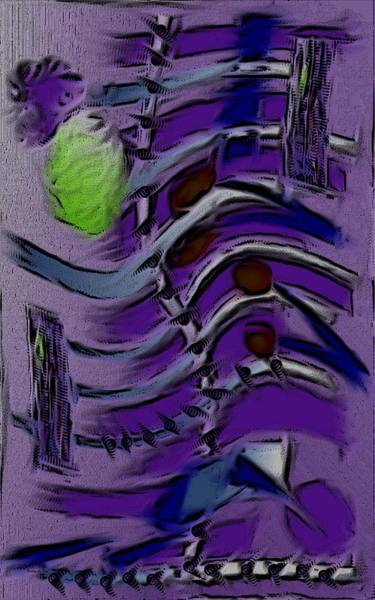 Digital Art - Garden City Abstract Purple by Barbara St Jean