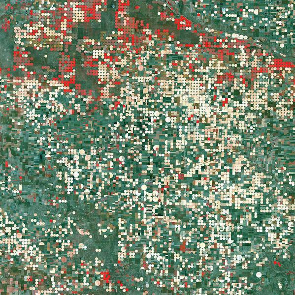 Photograph - Garden City Kansas by USGS Landsat