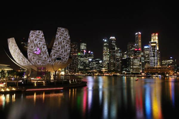 Wall Art - Photograph - Garden City - Marina Bay Singapore by Andrew Bi