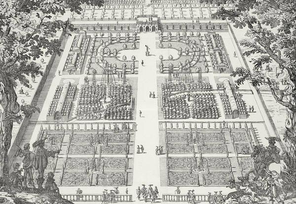 Garden Wall Drawing - Garden Design From The Gardens Of Wilton by Isaac de Caus