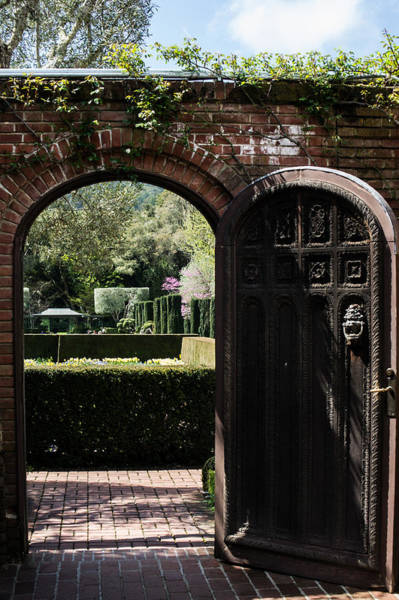 Woodside Photograph - Garden Door At Filoli by Diana Weir