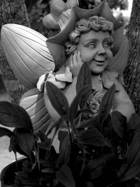 Photograph - Garden Fairy Statue by Lesa Fine