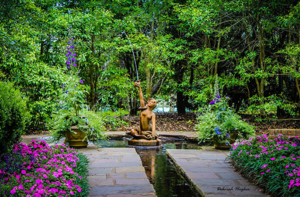 Photograph - Garden Fountain by Deborah Hughes