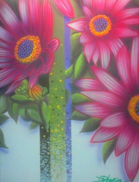 Painting - Garden Guardian by Darren Robinson