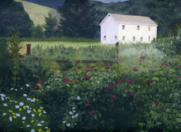 Adirondack Mountains Painting - Garden In The Back by Lynne Reichhart