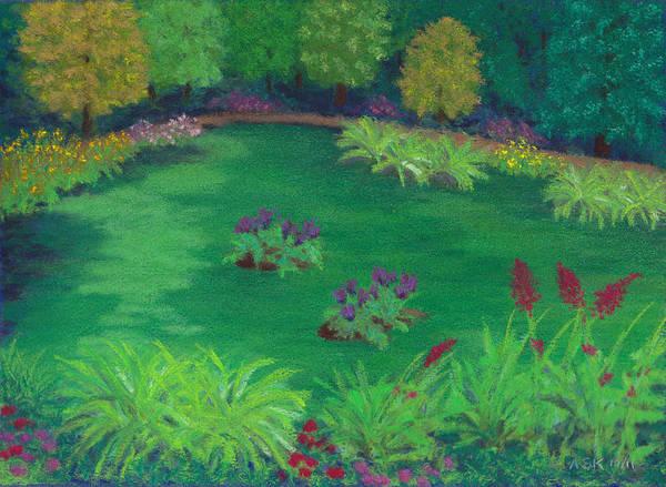Pastel - Garden In The Woods by Anne Katzeff