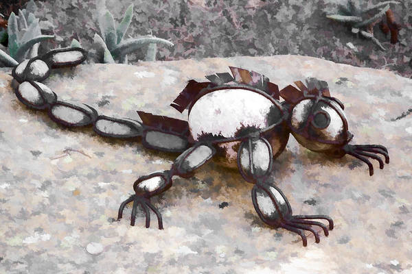 Digital Art - Garden Lizard by Photographic Art by Russel Ray Photos