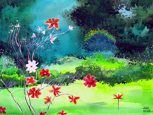 Painting - Garden Magic by Anil Nene