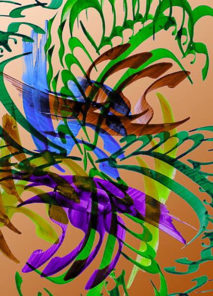 Swirl Drawing - Garden by Mah FineArt