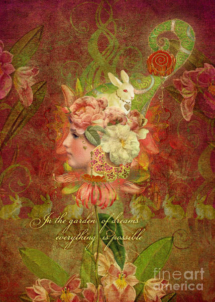 Aimee Stewart Wall Art - Digital Art - Garden Of Dreams by MGL Meiklejohn Graphics Licensing