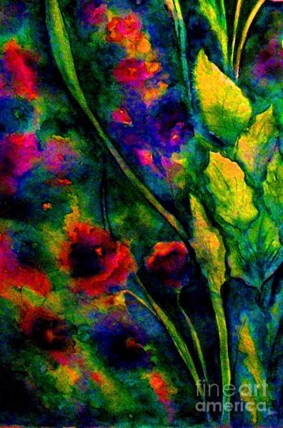 Snapdragons Painting - Garden Of Fall Colors by Hazel Holland