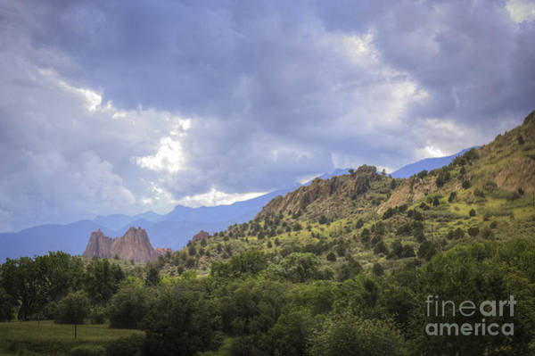 Photograph - Garden Of Gods And Storm Clouds by David Waldrop
