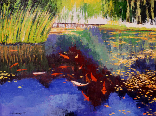 Pond Painting - Garden Of Serenity by Melody Cleary