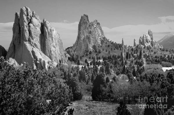 Wall Art - Photograph - Garden Of The Gods - Colorado Landscape Black And White Bw by Jon Holiday