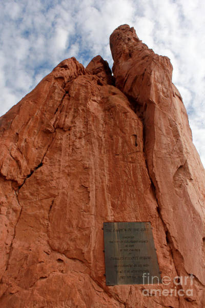 Wall Art - Photograph - Garden Of The Gods Colorado Springs Dedication Plaque by Adam Long