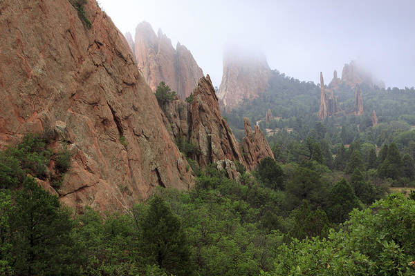 Photograph - Garden Of The Gods In Fog by Richard Smith
