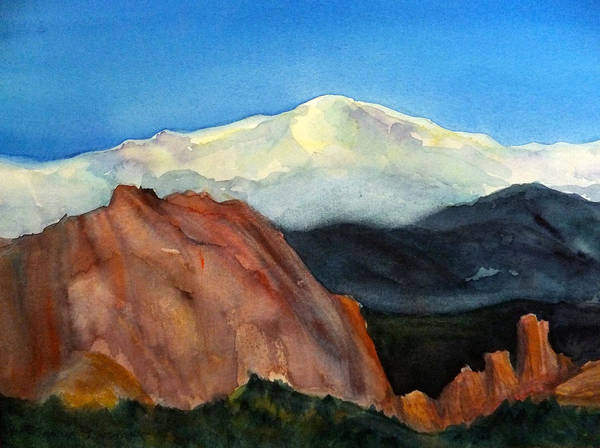 Pikes Peak Painting - Garden Of The Gods by Mary Gorman